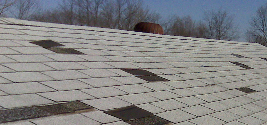 shingle roof missing shingles